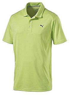 64e217613 Men Golf Clothing - PUMA ESS Pounce Golf Polo 2016 CLOSEOUT Sharp Green  Small