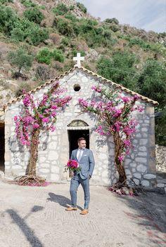 #kefaloniawedding #weddingideas #churchentrance #bouganvillea My Wedding Planner, Beautiful One, Our Wedding Day, Event Styling, Amazing Flowers, Fairy Lights, Weddingideas, Lanterns, Bouquet