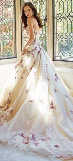 Floral Wedding Gowns - Weddingish