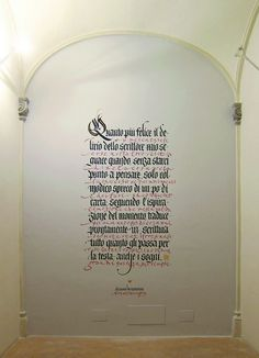 DIALOGO - Spoleto, Collicola on the Wall, Palazzo Collicola 2012. by Luca Barcellona - Calligraphy & Lettering Arts, via Flickr