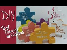 (268) DIY CAIXA QUEBRA CABEÇA 3D - BEST FRIENDS FOREVER - BFF - YouTube