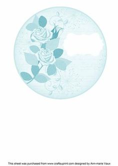 Teal Rose Circle1 Matching Circle 7in Insert Panel on Craftsuprint - Add To Basket!