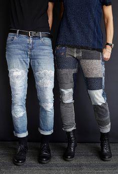 Fashion Desinger, Estilo Hippy, Denim Art, Visible Mending, Make Do And Mend, Recycle Jeans, Refashioning, Slow Fashion, Vintage Denim