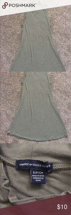 American Eagle Dress Selling this green dress I got from American Eagle. Lightweight material for the summer! Size small. American Eagle Outfitters Dresses Mini