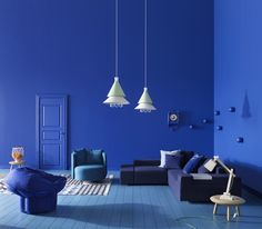 "To call this the ""blue room"" wouldn't do it justice... :-)"