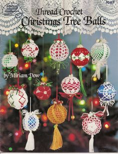 Thread Crochet Christmas Tree Balls American School of Needlework 12 Patterns