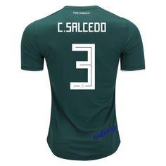 Carlos Salcedo 3 2018 FIFA World Cup Mexico Home Soccer Jersey 701439e7742fb