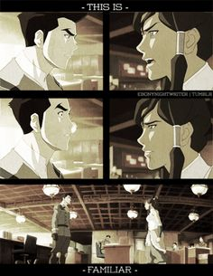 """Hmm … maybe the """"love/hate relationship"""" that everyone identified at the start of the series was more accurate than I thought. Bolin Legend Of Korra, Avatar Legend Of Aang, Avatar Movie, Avatar Series, Korra Avatar, Team Avatar, Avatar Video, Avatar Creator, Love You Gif"""