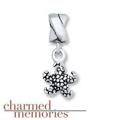 Charmed Memories Starfish Dangle Charm Sterling Silver
