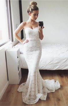 Lace ,Mermaid,Fashion Prom Dress,Sexy Party Dress,Custom Made Evening