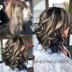 New hair auburn balayage rose gold 20 ideas page 22 Haircut And Color, Hair Color And Cut, Matrix Hair Color, Hair Color Highlights, Chunky Highlights, Blonde Peekaboo Highlights, Bright Highlights, Pretty Hairstyles, Hair Hacks
