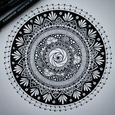 Hand Drawn Mandala Illustration. By Alison.