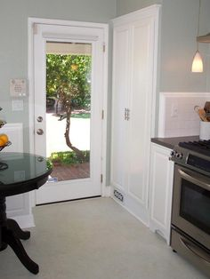 A single french door, perfect from kitchen to deck. | Cute little ...