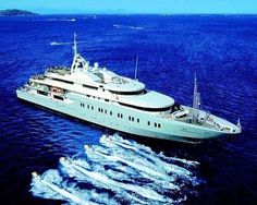 Mega yacht Annaliesse - yours for only 1million a week.