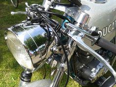 Ducati Motorcycles, Ducati Scrambler, Vintage Vespa, Vintage Bikes, Brat Cafe, Cafe Racer Build, Mv Agusta, Old Bikes, Used Parts