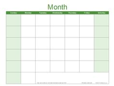 Three Month Calendar Template  Blank Calendar    Blank