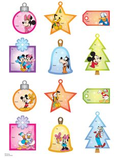 12 Free Printable Christmas Gift Tags | Disney, Christmas gift ...
