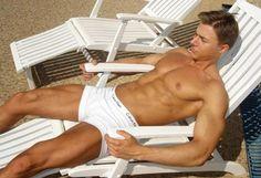 Alex Ceobanu deck chair Beautiful Men, Underwear, Abs, Muscle, Sexy, Swimwear, Chair, Gallery, Fashion