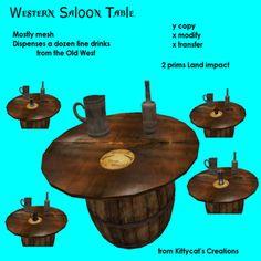 Western Saloon Table Box V2
