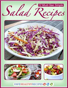12 Must-See Simple Salad Recipes | These easy salad recipes will change the way you think about salad. They're great as a meal as well as a side dish.