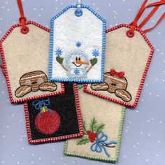 Tags for Machine Embroidery in the hoop from A Design By Lyn  gift card holder