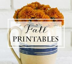 Growing collection of free Fall original printables from On Sutton Place