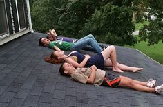 Laying on the Roof. I used to do this all the time at home especially when the stars came out and there was a full moon or when there was a thunderstorm. It's so much fun, peaceful, and relaxing.