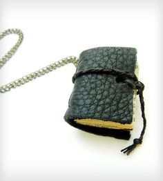 Miniature Book Leather Journal Necklace | Jewelry Necklaces | Release Me Design | Scoutmob Shoppe | Product Detail