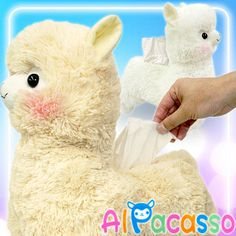 Brand new with tags.  These babies will hold your tissues for you! Tissue covers are incredibly popular in Japan, and they are a cute way to show your affection for Alpacasso!  Each plush holder is about 30cm in height. There are stretchy fabric holders to secure a tissue box in the Alpaca's ...