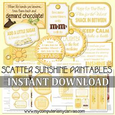 Scatter Sunshine, Box of Sunshine - Printable INSTANT Download