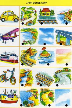 miesto pohybu Speech Therapy Activities, Preschool Activities, Math For Kids, Step By Step Drawing, Science Nature, Transportation, Kindergarten, Album, Teaching