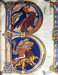 Initial B from illuminated manuacript.