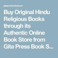 Buy Original Hindu Religious Books through its Authentic Online Book Store from Gita Press Book Shop