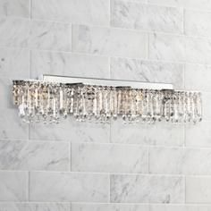 "Berlin 36"" Wide Crystal Bathroom Light Vanity Fixture  Crystal Awesome Crystal Vanity Lights For Bathroom Design Decoration"
