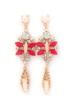 Raspberry Kimmie Earrings | Awesome Selection of Chic Fashion Jewelry | Emma Stine Limited