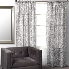 Maia Panels - Charcoal from Z Gallerie  I need 4 panels to match my couch and add some pattern.