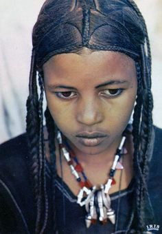 Africa   Tuareg girl. Niger   Scanned postcard image, published by IRIS