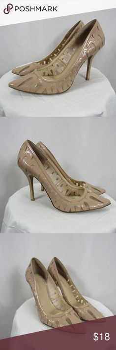 6fd3ff78107 Enzo Angioilni Nude Cut Out Pumps Heels 9.5