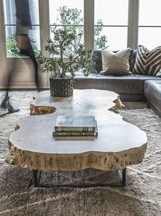 Diy Coffee Table, Decor, Modern Coffee Tables, Coffee Table Trunk, Stump Coffee Table, Rustic Coffee Tables, Wooden Coffee Table Designs, Coffee Table Farmhouse, Coffee Table Plans