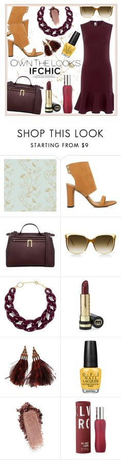 """IfCHIC welcomes spring !!"" by jckallan ❤ liked on Polyvore featuring Timorous Beasties, Steven Alan, DIANA BROUSSARD, Gucci, Louis Vuitton, OPI, Apothia, dress, ifchic and springdresscode"