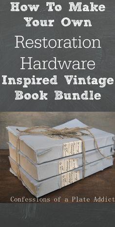 Restoration Hardware Inspired Vintage Book Bundle
