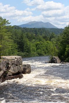 Crib Works, West Branch of Penobscot River near Baxter State Park #cribworksrapid #penobscot