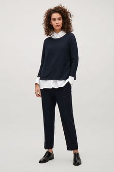 COS image 1 of A-line jumper in Navy