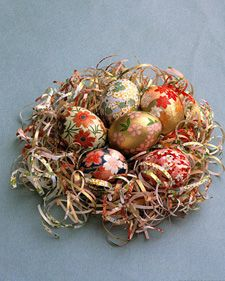 paper covered eggs