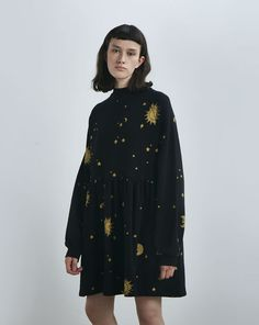 Lazy Oaf Golden Galaxy Sweater Dress