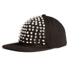H&M Cap with studs (26 AUD) ❤ liked on Polyvore featuring accessories, hats, cap, snapbacks, black, snap back cap, studded snapback, snapback hats, cap snapback and snapback cap
