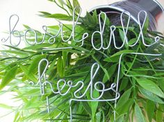 Love these wire garden markers.