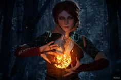 Charming Triss Merigold (Witcher) cosplay by beautiful 😊 . Photo by 📷 . Fantasy Witch, Fantasy Rpg, Medieval Fantasy, The Witcher Geralt, Witcher Art, Fantasy Inspiration, Character Inspiration, Black E White, White Wolf