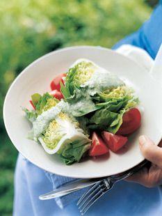 Barefoot Contessa - Recipes - Bibb Salad with Basil Green Goddess Dressing.
