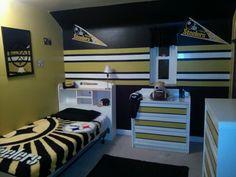 Steeler football room...love the locker lookin door!! | Scotts man ...